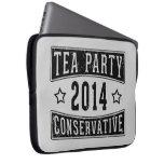 Conservador de la fiesta del té funda ordendadores