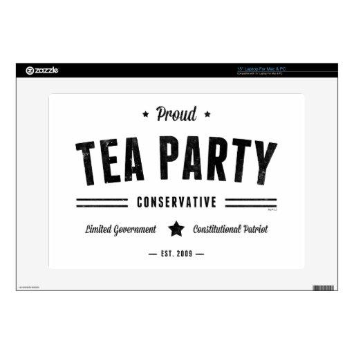 Conservador de la fiesta del té skins para 38,1cm portátiles