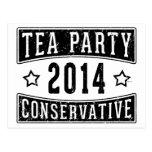 Conservador de la fiesta del té postales