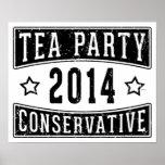 Conservador de la fiesta del té posters