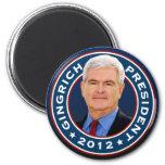 Conservador de Newt Gingrich para el presidente Imán Redondo 5 Cm