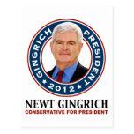 Conservador de Newt Gingrich para el presidente Tarjetas Postales