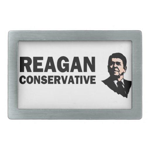Conservador de Reagan (estilo 2) Hebilla De Cinturón Rectangular