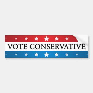 Conservador del voto pegatina de parachoque