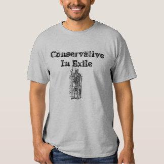Conservador en camiseta del exilio camisas