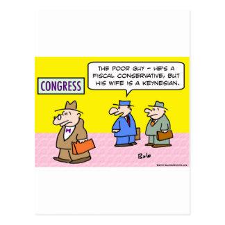 conservador fiscal del congreso keynesiano de la postal