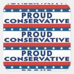 Conservador orgulloso calcomanias cuadradas