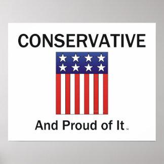 Conservador orgulloso de la CAMISETA Impresiones