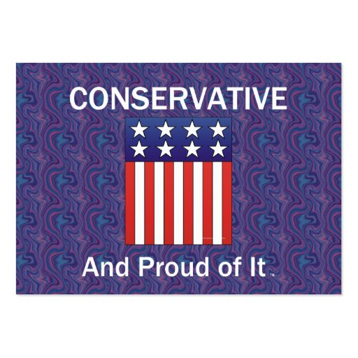 Conservador orgulloso de la CAMISETA Tarjetas De Visita
