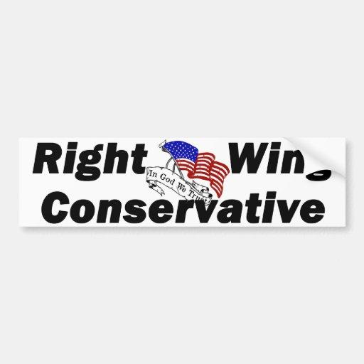 Conservador orgulloso de la derecha pegatina de parachoque