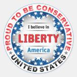 Conservador orgulloso etiquetas