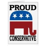 Conservador orgulloso felicitacion