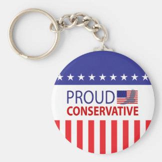 Conservador orgulloso llavero redondo tipo pin