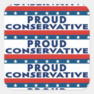 Conservador orgulloso pegatina cuadrada