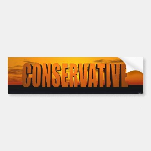 Conservador Pegatina Para Auto