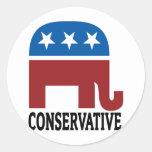 Conservador Pegatinas Redondas