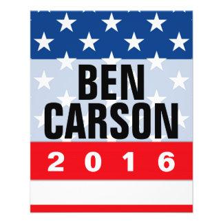 """Conservador político de Ben Carson 2016 Folleto 4.5"""" X 5.6"""""""