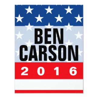 """Conservador político de Ben Carson 2016 Invitación 4.25"""" X 5.5"""""""