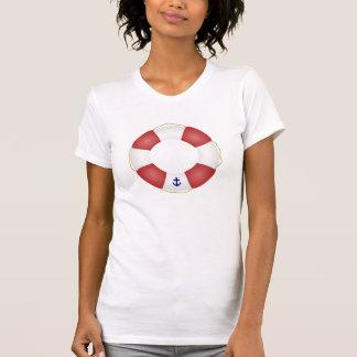 Conservante de vida náutico tee shirts