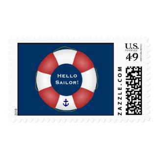 Conservante de vida náutico sellos postales