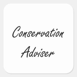 Conservation Adviser Artistic Job Design Square Sticker