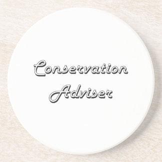 Conservation Adviser Classic Job Design Beverage Coasters