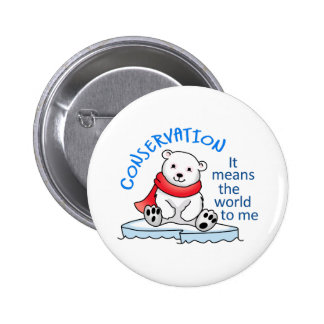 CONSERVATION PINBACK BUTTONS