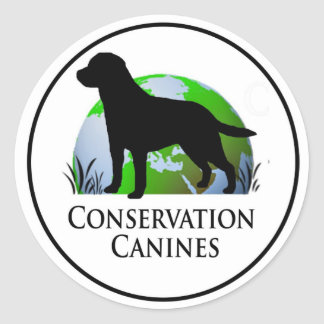 Conservation Canine Decal Classic Round Sticker