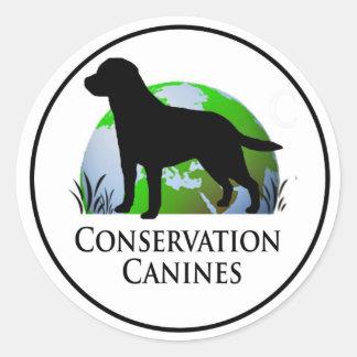 Conservation Canine Decal Round Sticker