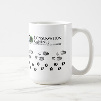 Conservation Canine Mug Paw prints and Boot Prints