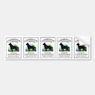Conservation Canine sticker sheet Bumper Sticker
