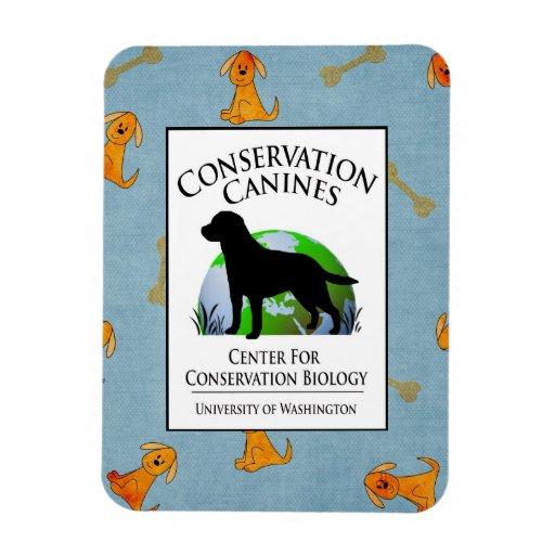Conservation Canines Gear Rectangular Magnet