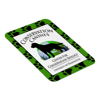 Conservation Canines Gear Rectangular Photo Magnet