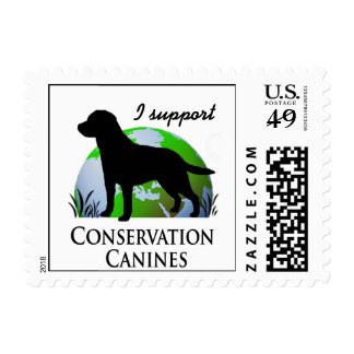 Conservation Canines Postage Stamp