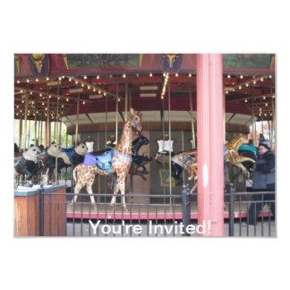 Conservation Carousel Childs Birthday Invitation