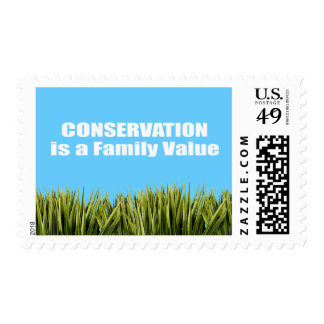 Conservation is a Family Value Postage