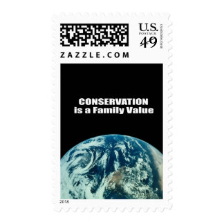 Conservation is a Family Value Postage Stamp