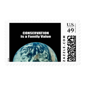 Conservation is a Family Value Stamp