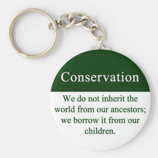 Conservation is an important responsibility keychain