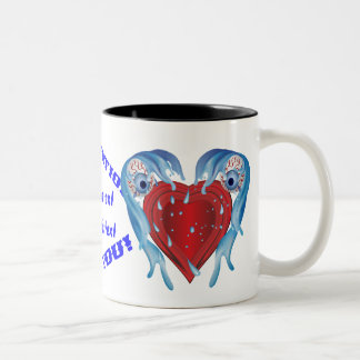Conservation logo Customize All Styles Two-Tone Coffee Mug