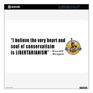 """Conservatism Quote by President Ronald Reagan 11"""" MacBook Air Decal"""