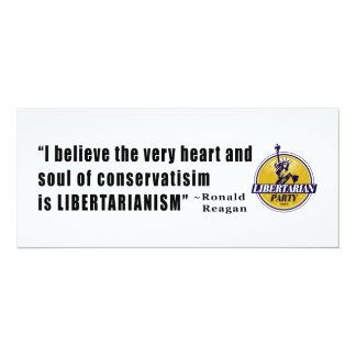 Conservatism Quote by President Ronald Reagan Card