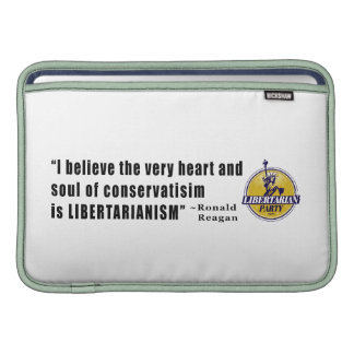 Conservatism Quote by President Ronald Reagan MacBook Air Sleeve