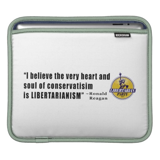 Conservatism Quote by President Ronald Reagan Sleeve For iPads