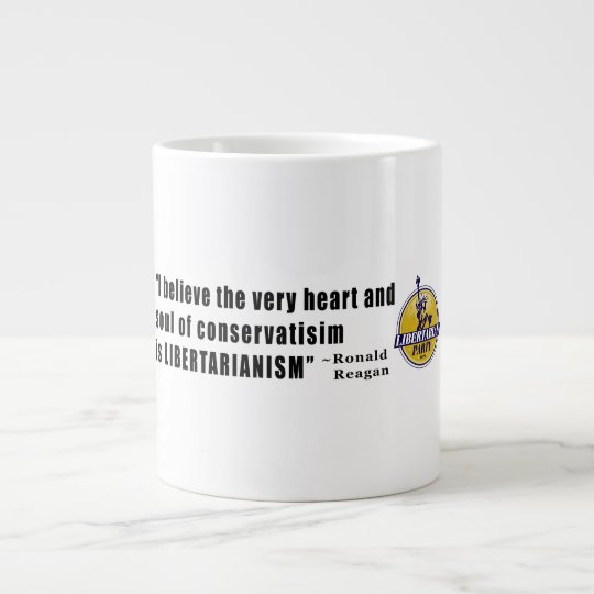 Conservatism Quote by President Ronald Reagan Large Coffee Mug