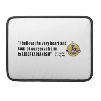 Conservatism Quote by President Ronald Reagan MacBook Pro Sleeves