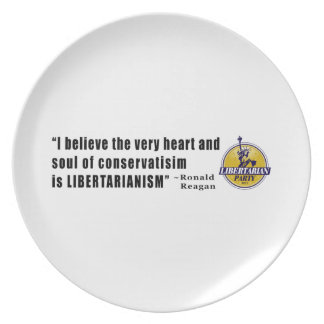 Conservatism Quote by President Ronald Reagan Plate