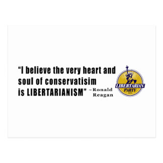 Conservatism Quote by President Ronald Reagan Postcard