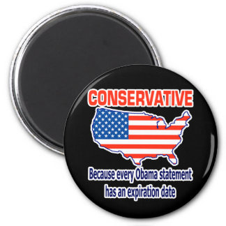 Conservative - Anti Obama 2 Inch Round Magnet