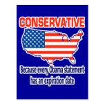 Conservative - Anti Obama Postcard